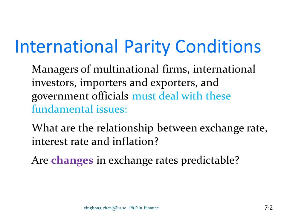  The objective is to discover whether a nation's exchange rate is overvalued or undervalued in terms of RPPP.