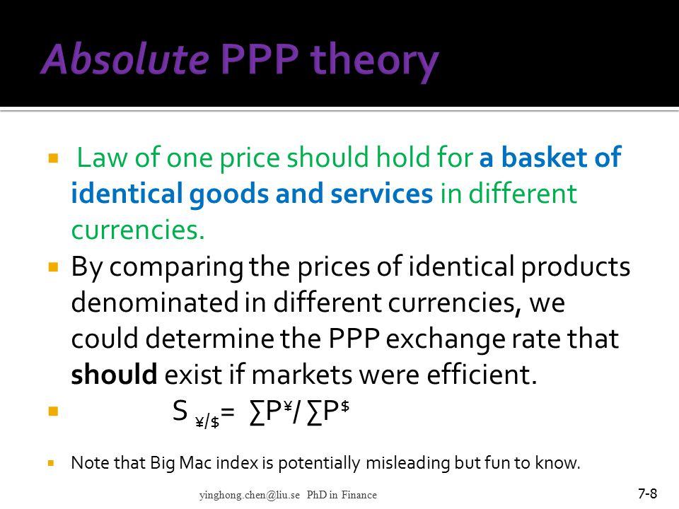 7-29 Exchange market yinghong.chen@liu.se PhD in Finance