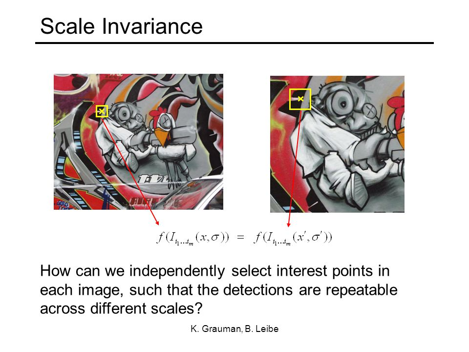 Scale Invariance K. Grauman, B.