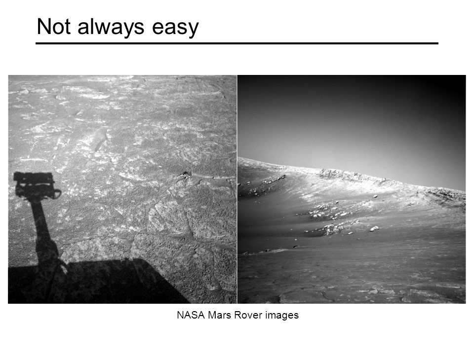 Not always easy NASA Mars Rover images