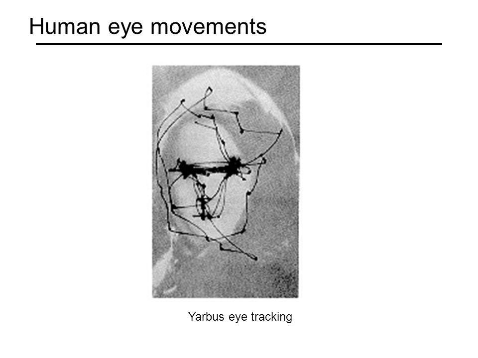 Human eye movements Yarbus eye tracking