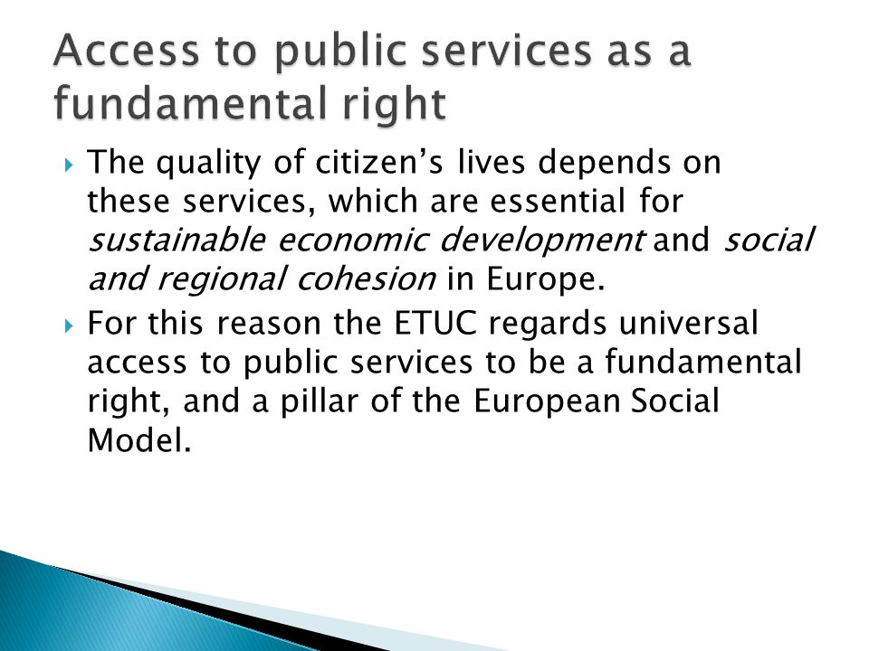  services of the highest standard  accessible to everyone at an affordable price  subject to democratic control and accountability involving both consumers and workers in these crucial sectors.