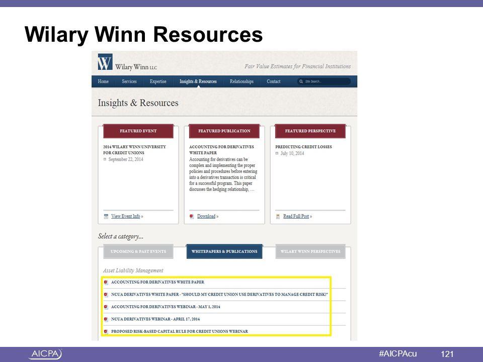 American Institute of CPAs #AICPAcu Wilary Winn Resources 121