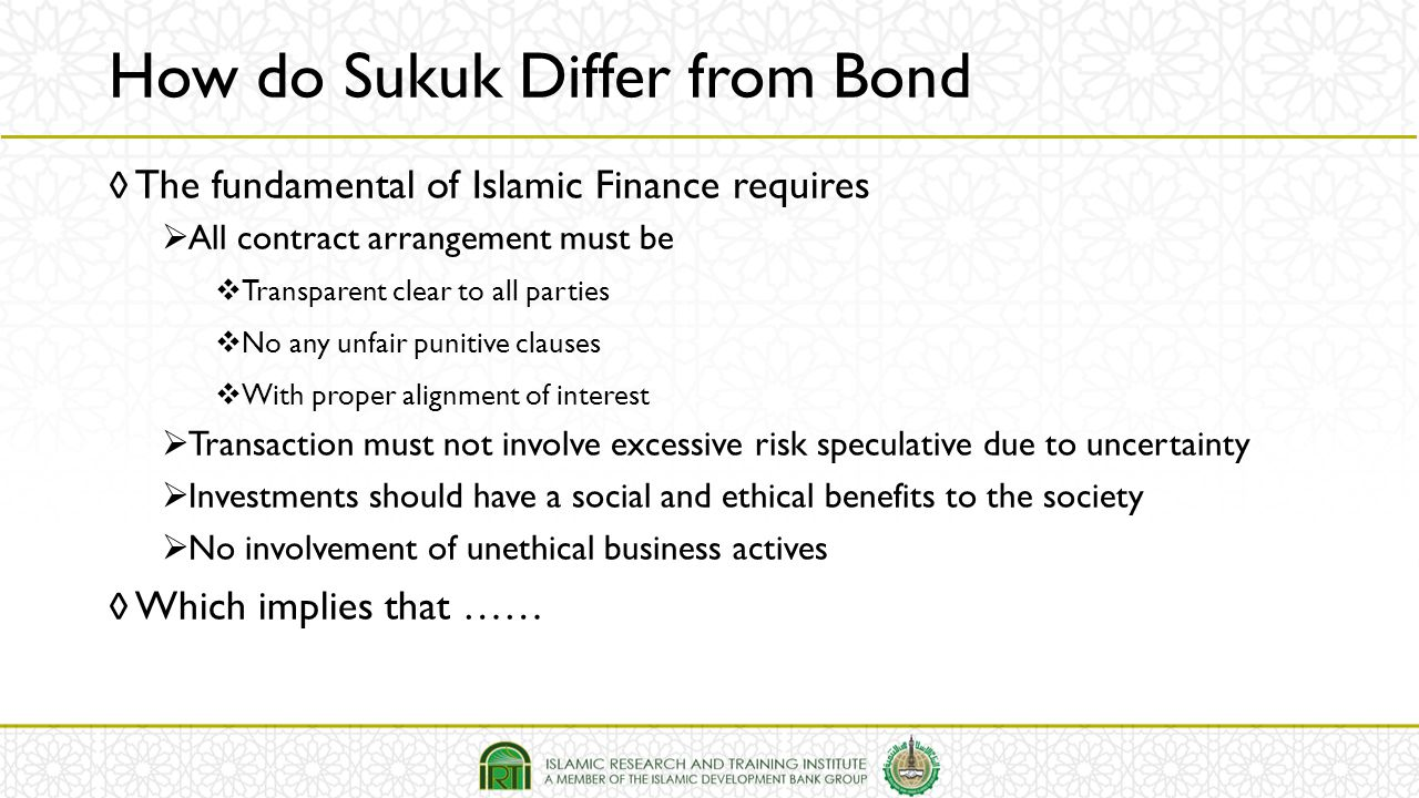 ◊ The fundamental of Islamic Finance requires  All contract arrangement must be  Transparent clear to all parties  No any unfair punitive clauses 