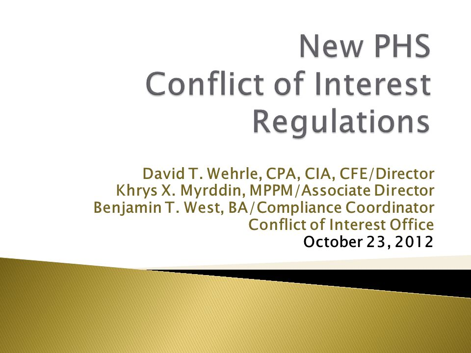 David T. Wehrle, CPA, CIA, CFE/Director Khrys X. Myrddin, MPPM/Associate Director Benjamin T.