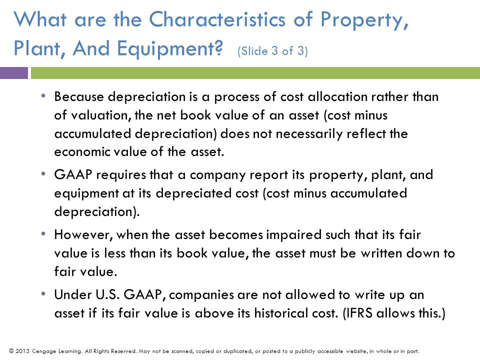 What are the Characteristics of Property, Plant, And Equipment.