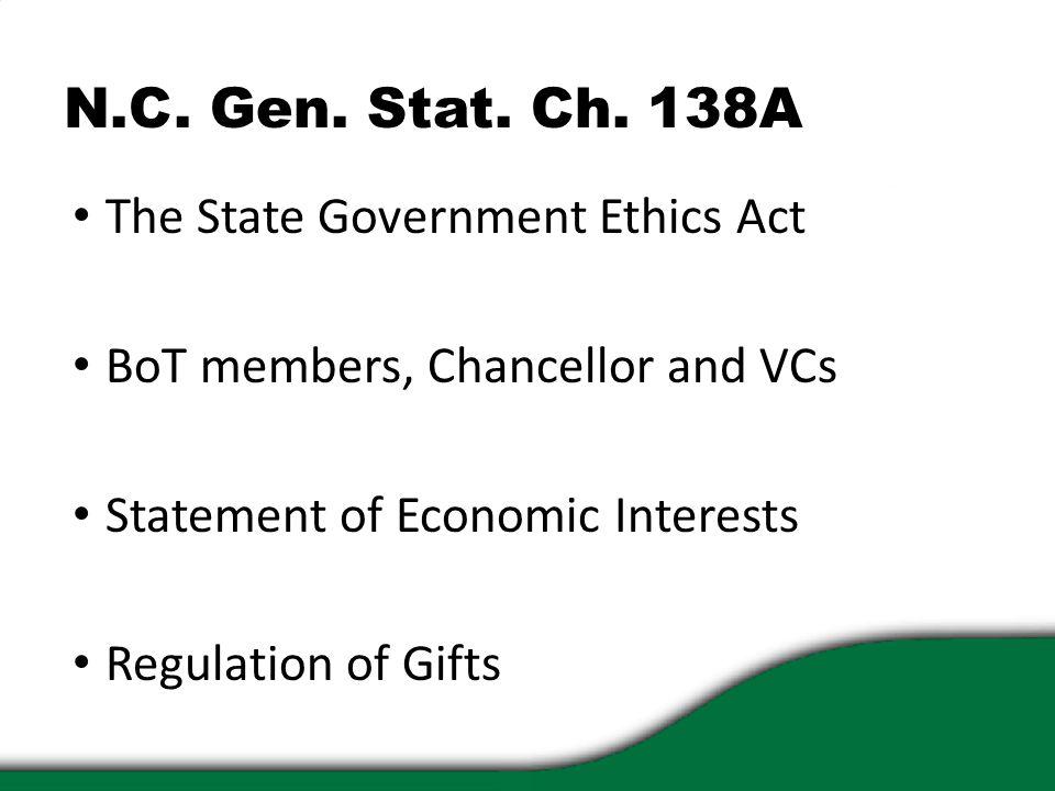 N.C. Gen. Stat. Ch.