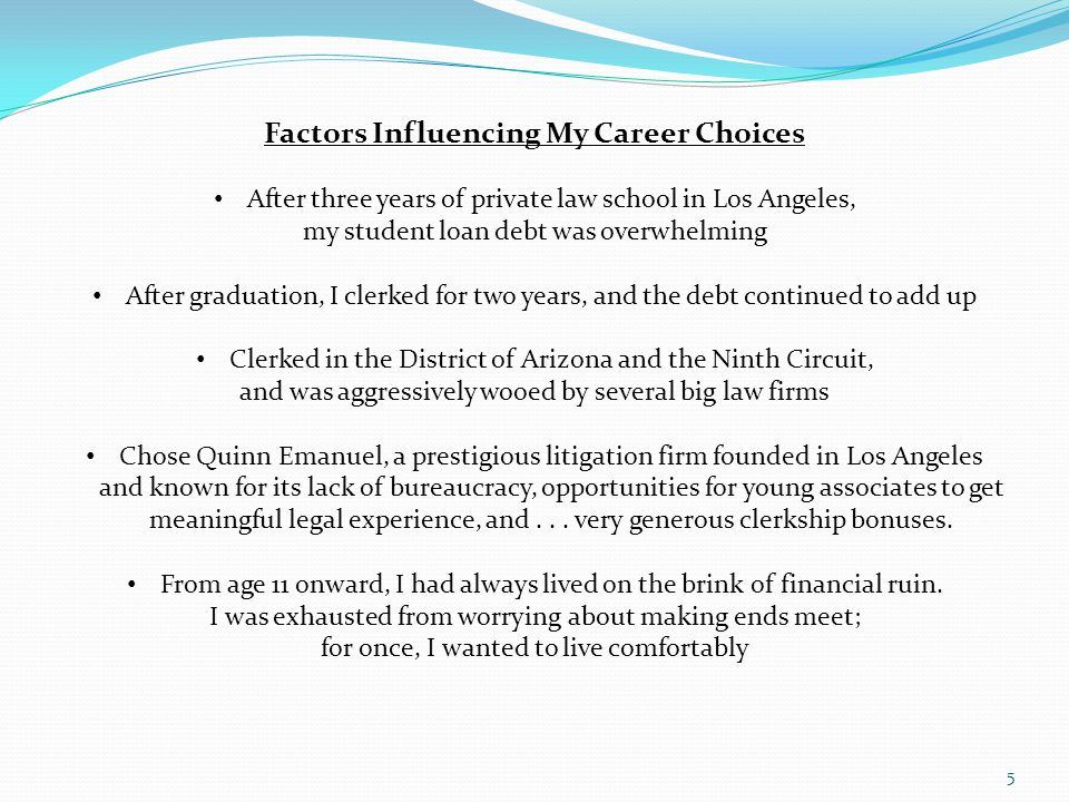 2.Developing a Career with Public Interest Opportunities But...