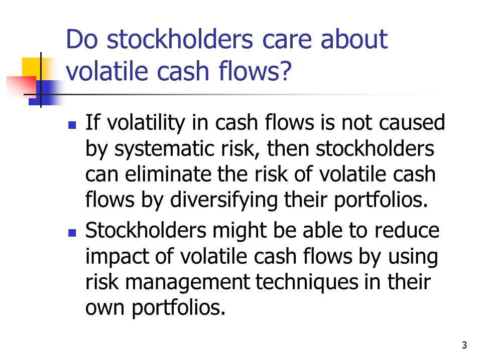 3 Do stockholders care about volatile cash flows.