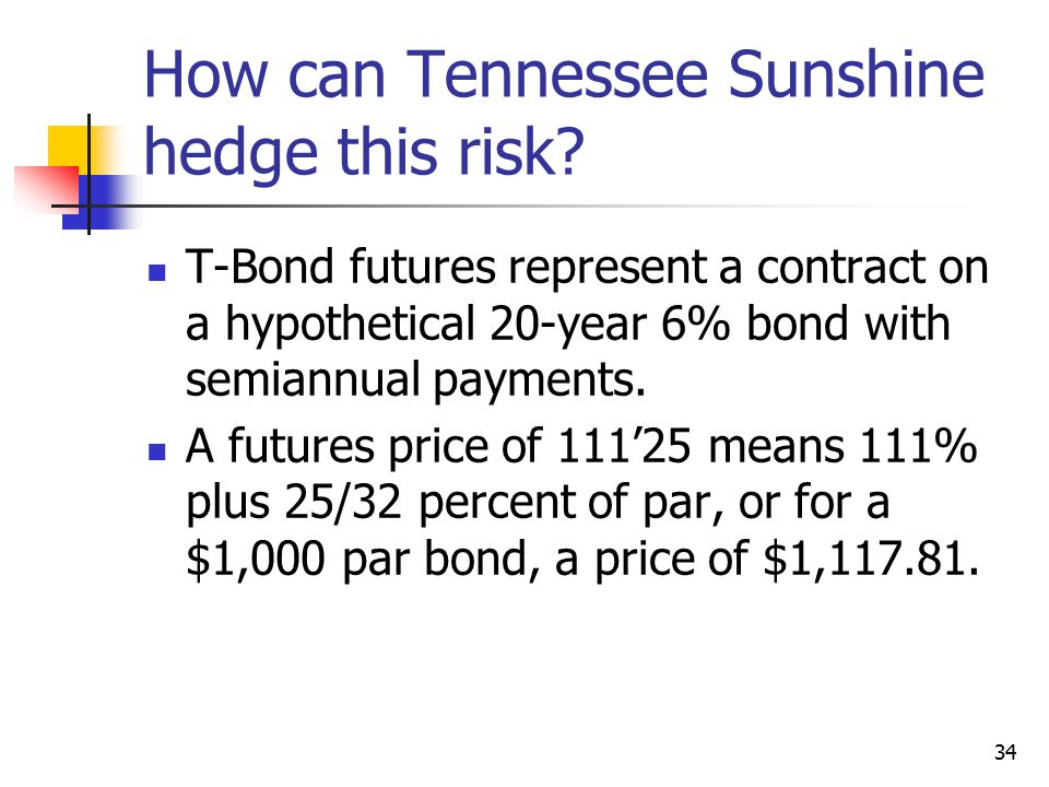 34 How can Tennessee Sunshine hedge this risk.