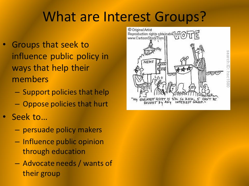 What are Interest Groups.
