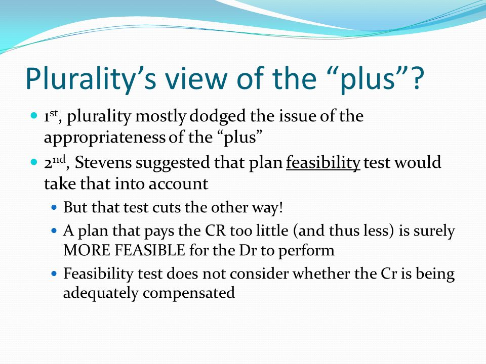 Plurality's view of the plus .