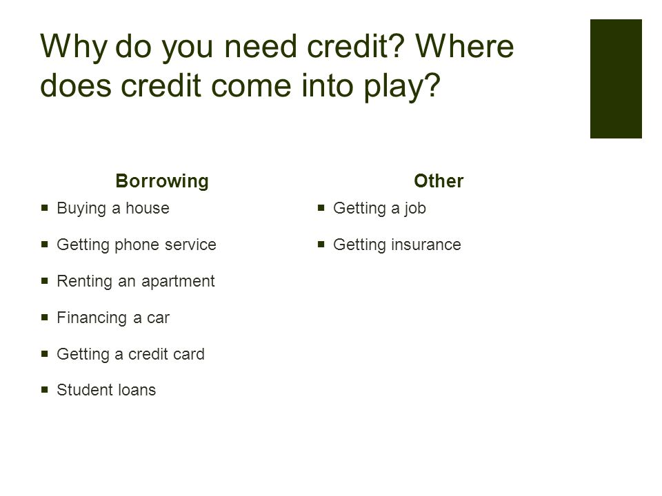 How did you get it? Do any of you have a credit card?