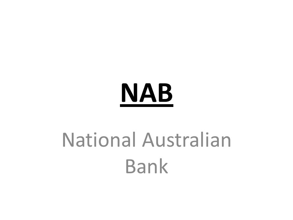 NAB National Australian Bank