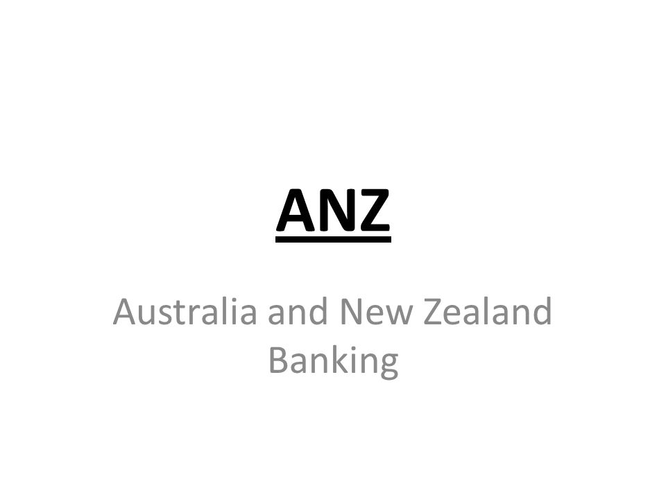 ANZ Australia and New Zealand Banking