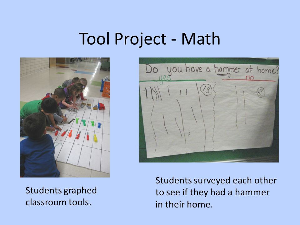Tool Project - Math Students surveyed each other to see if they had a hammer in their home.