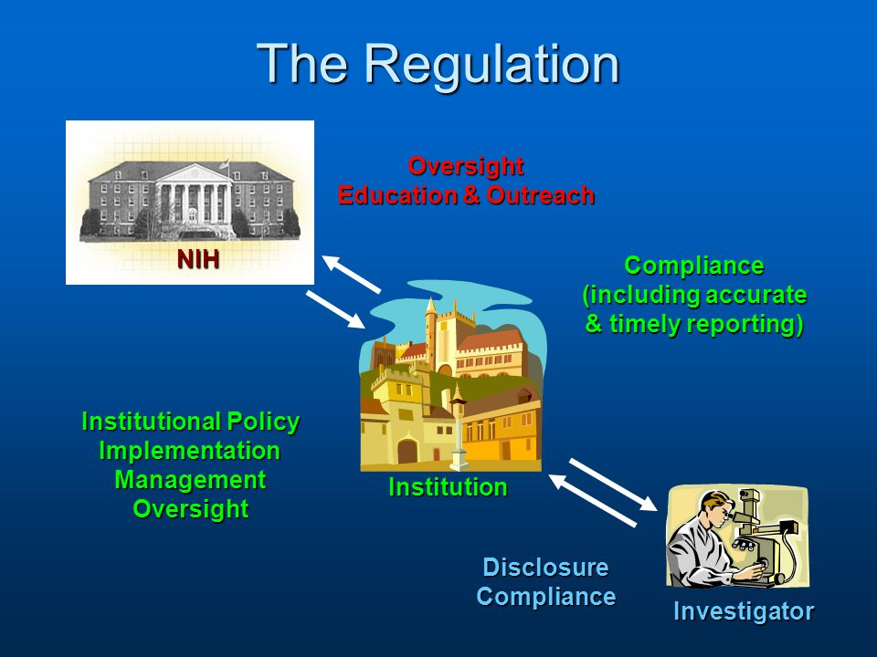 Major proposed changes to the regulations (cont.) Management of an identified FCOI by the InstitutionManagement of an identified FCOI by the InstitutionCURRENT: - Manner of compliance with regulation not specified (manage, reduce or eliminate are indicated as options) PROPOSED: - For all identified FCOI, Institutions must develop and implement a management plan (may include reduction or elimination of the SFI) 36