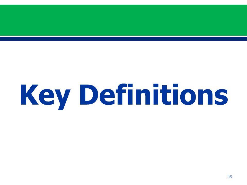 59 Key Definitions