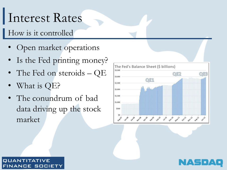 Interest Rates Open market operations Is the Fed printing money.