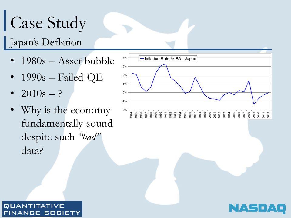 Case Study 1980s – Asset bubble 1990s – Failed QE 2010s – .
