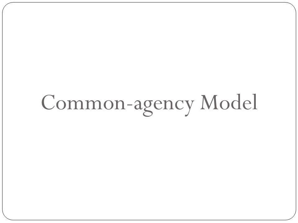Common-agency Model