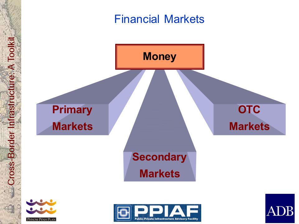 Cross-Border Infrastructure: A Toolkit Financial Markets Primary Markets Secondary Markets OTC Markets Money