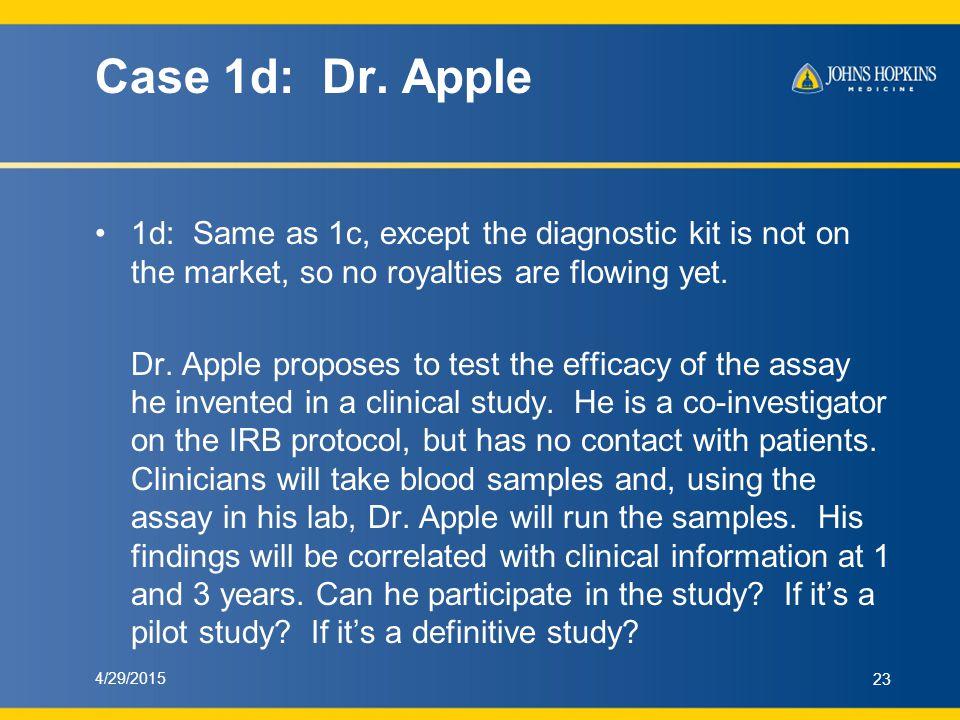 Case 1d: Dr.