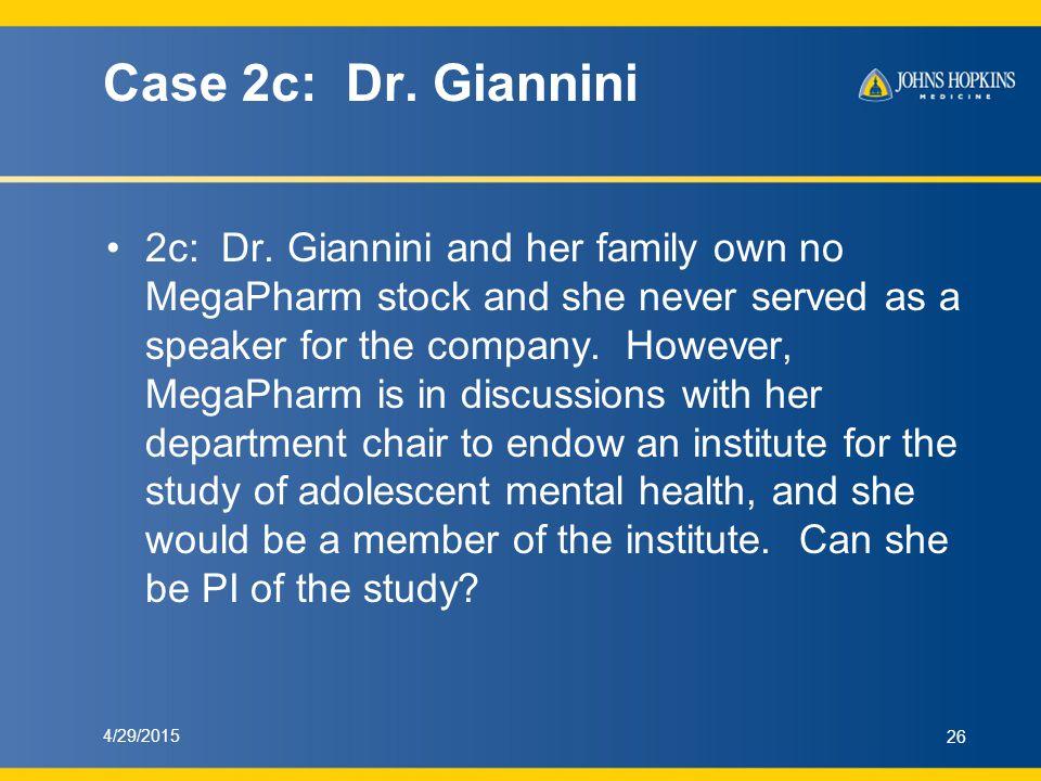 Case 2c: Dr. Giannini 2c: Dr.