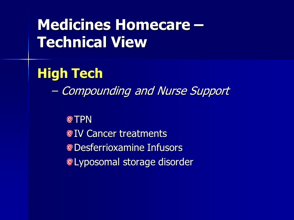 Hospitals/PCTs/CPH's Pharmaceutical Manufacturers Home Care Supplies Role of the National medicines Homecare Committee