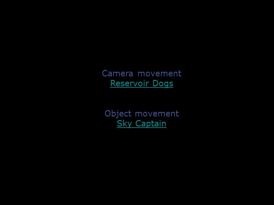 newMediaImages Camera movement Reservoir Dogs Object movement Sky Captain