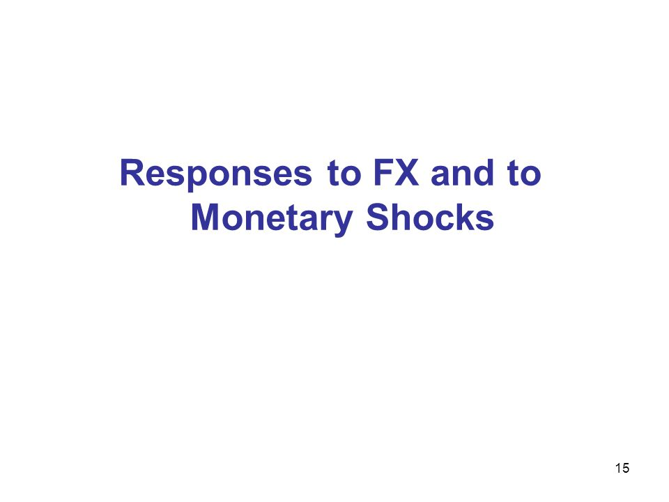 15 Responses to FX and to Monetary Shocks