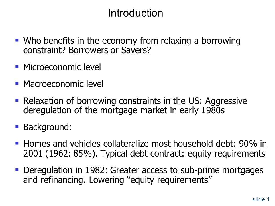 slide 12 Utility Maximization by Borrowers Constraints: