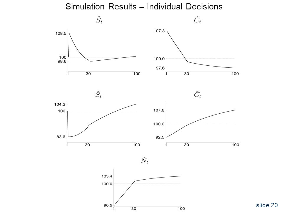 slide 20 Simulation Results – Individual Decisions