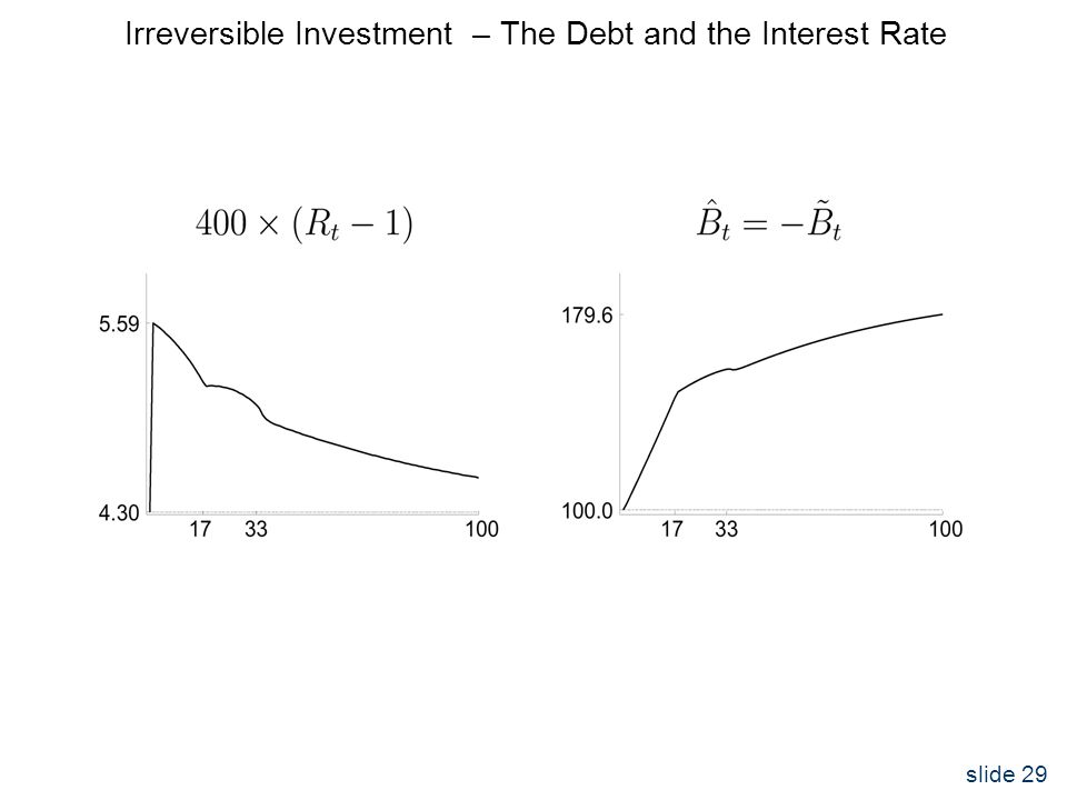 slide 29 Irreversible Investment – The Debt and the Interest Rate