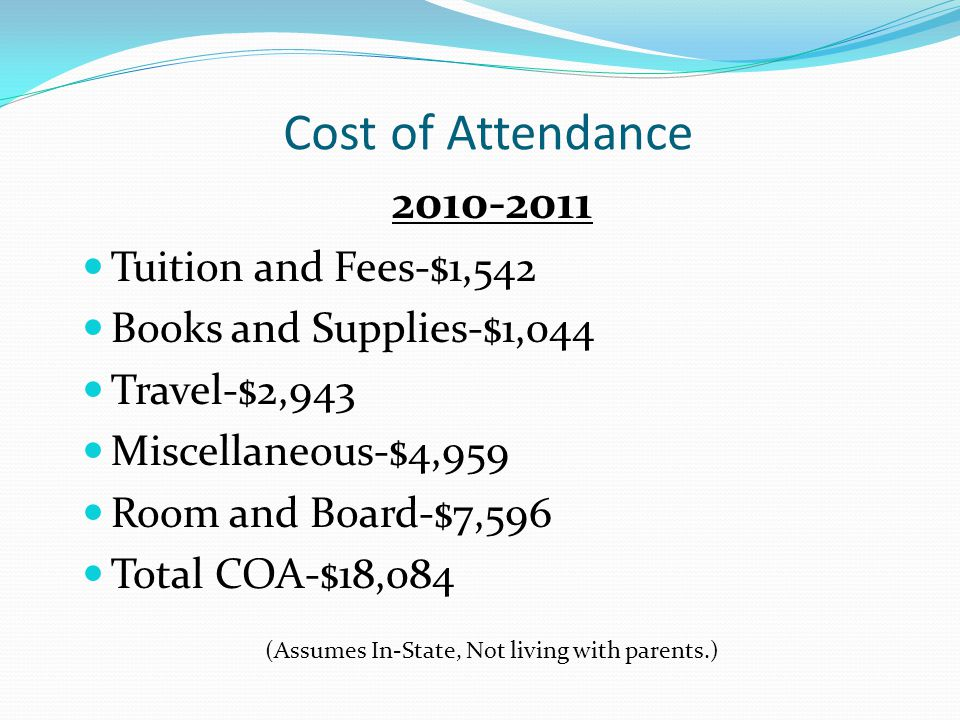Annual Eligibility, Continued New Terms Cost of Attendance Expected Family Contribution Need
