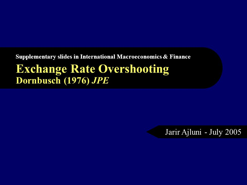 Meaning of Overshooting Traditional and monetarists views suggest that after a monetary expansion, prices rise, interest rates falls and consequently the exchange rate is to depreciate (increase), Dornbusch Keynesian sticky-price model show that of the exchange rate would depreciate and 'Overshoot' in depreciation then appreciate slowly back to the new equilibrium.