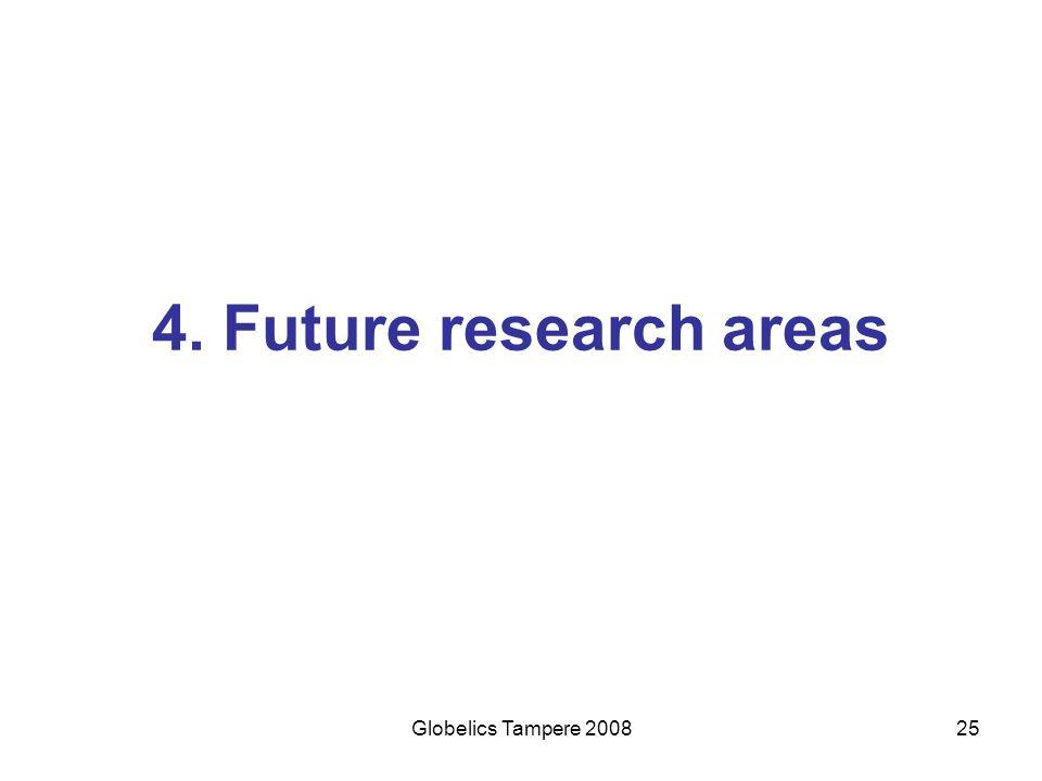 Globelics Tampere 200825 4. Future research areas