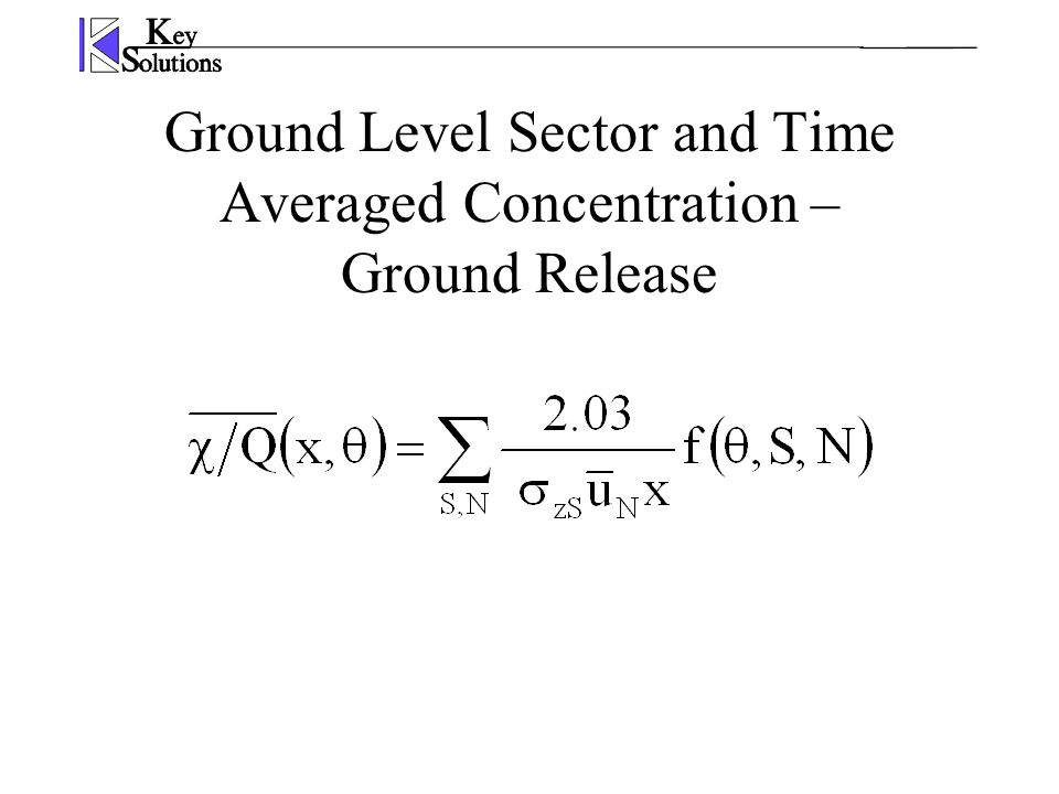 Ground Level Sector and Time Averaged Concentration – Ground Release