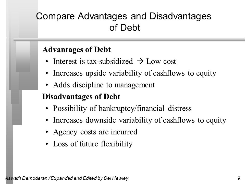 Aswath Damodaran / Expanded and Edited by Del Hawley10 What Does Leverage Mean.
