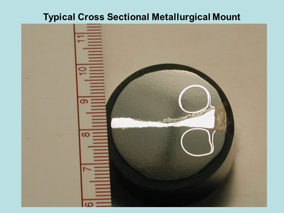 Typical Cross Sectional Metallurgical Mount