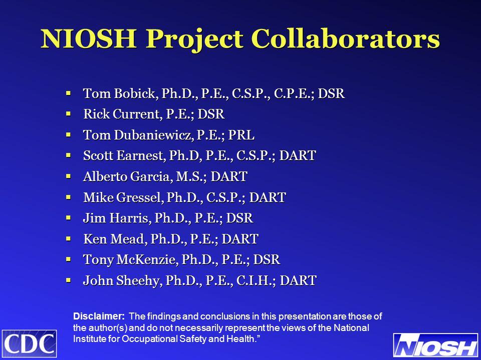  NIOSH input in Chap 7~Healthcare Facilities in HVAC Apps Manual.