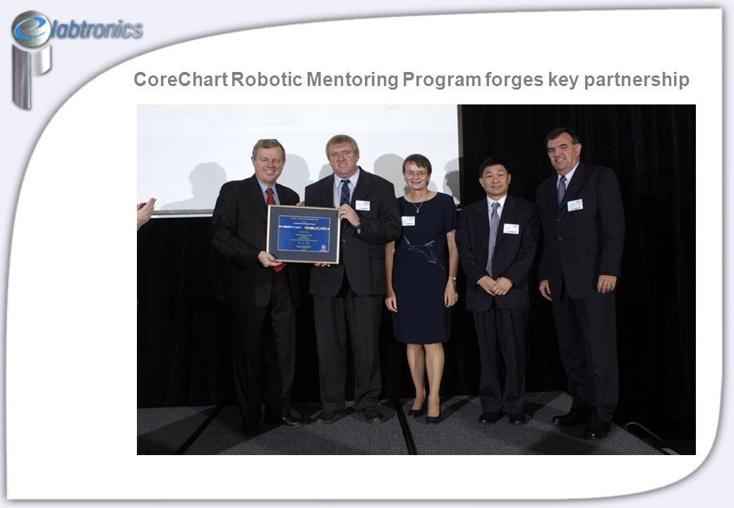 CoreChart Robotic Mentoring Program forges key partnership
