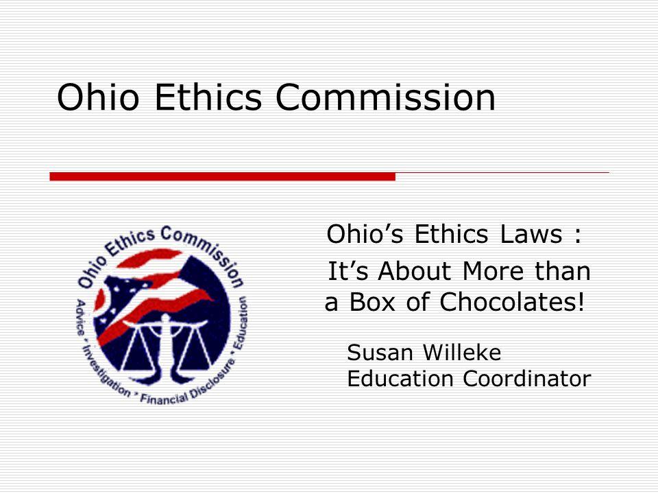 Ohio Ethics Law: Why.