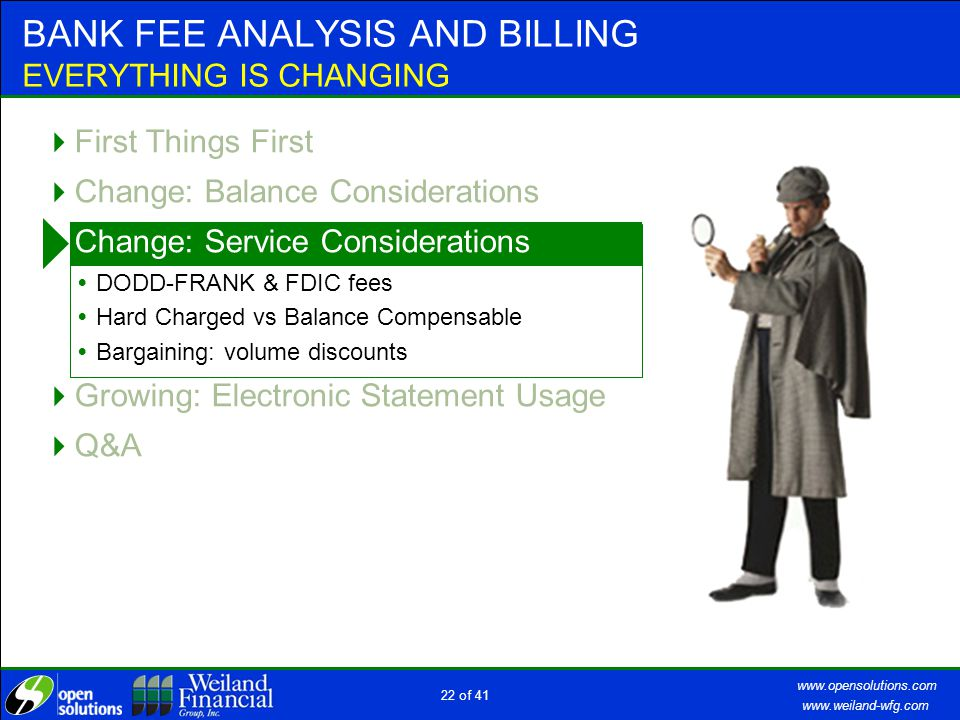 www.weiland-wfg.com www.opensolutions.com 21 of 41 BALANCE CONSIDERATIONS TIERED EARNINGS CREDIT RATES ACCOUNT POSITION.........FEES.BALANCES Earnings