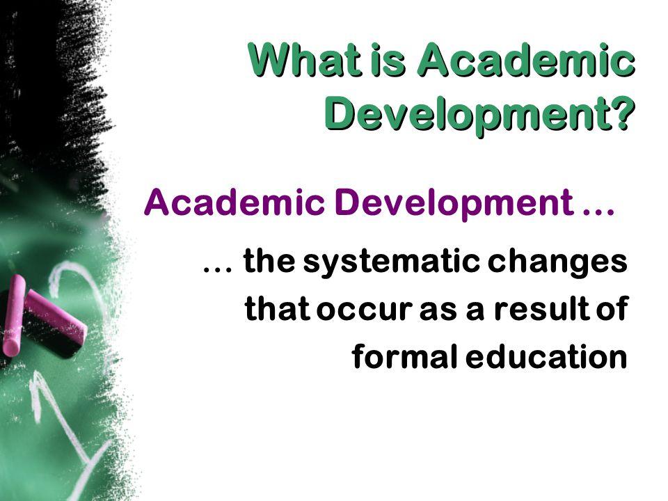 What is Academic Development.