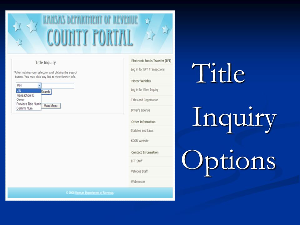 Title Inquiry Options
