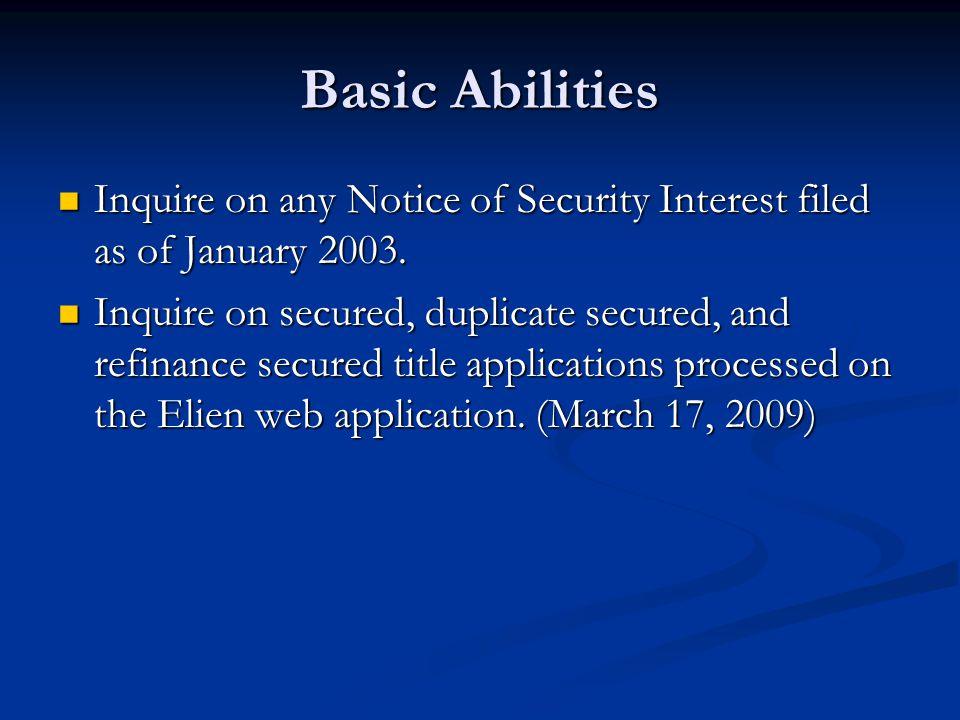 Example: NSI Inquiry