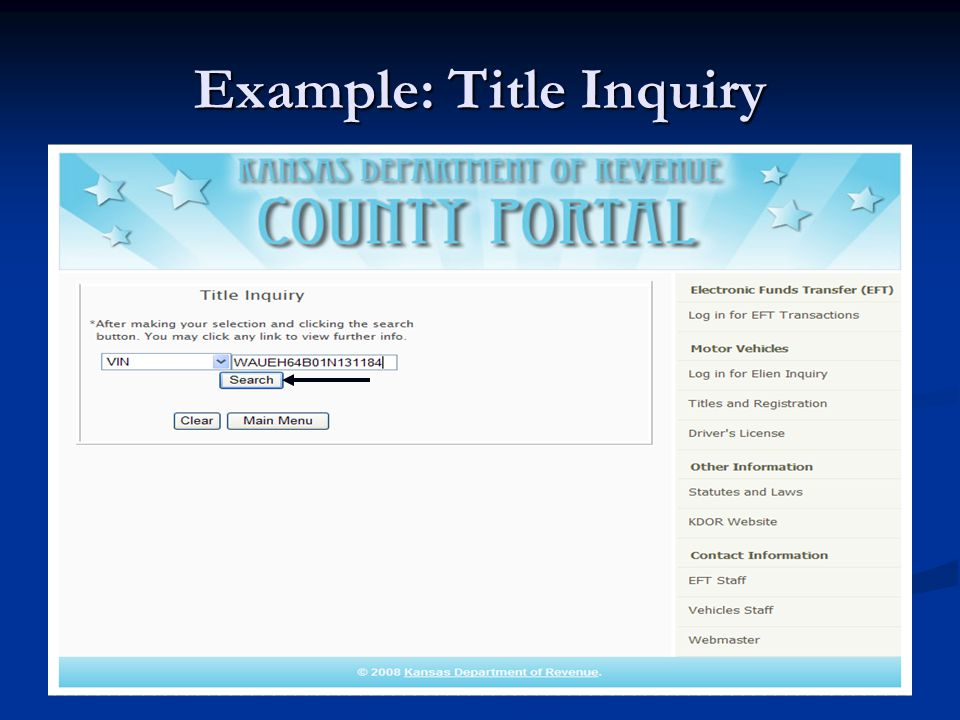 Example: Title Inquiry