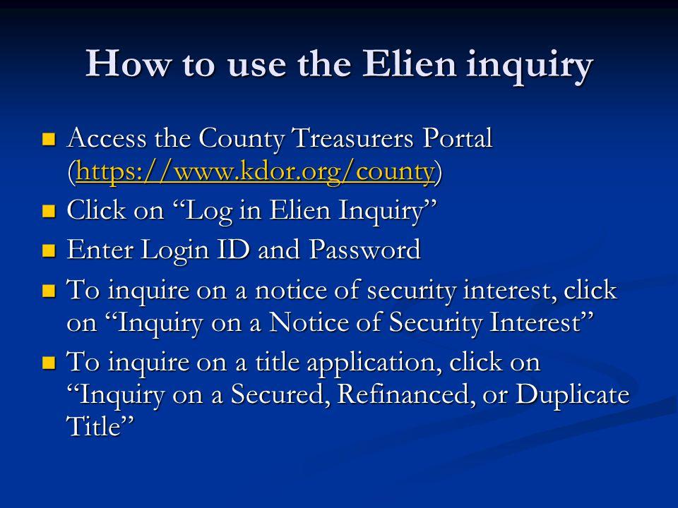Access County Treasurer's Portal