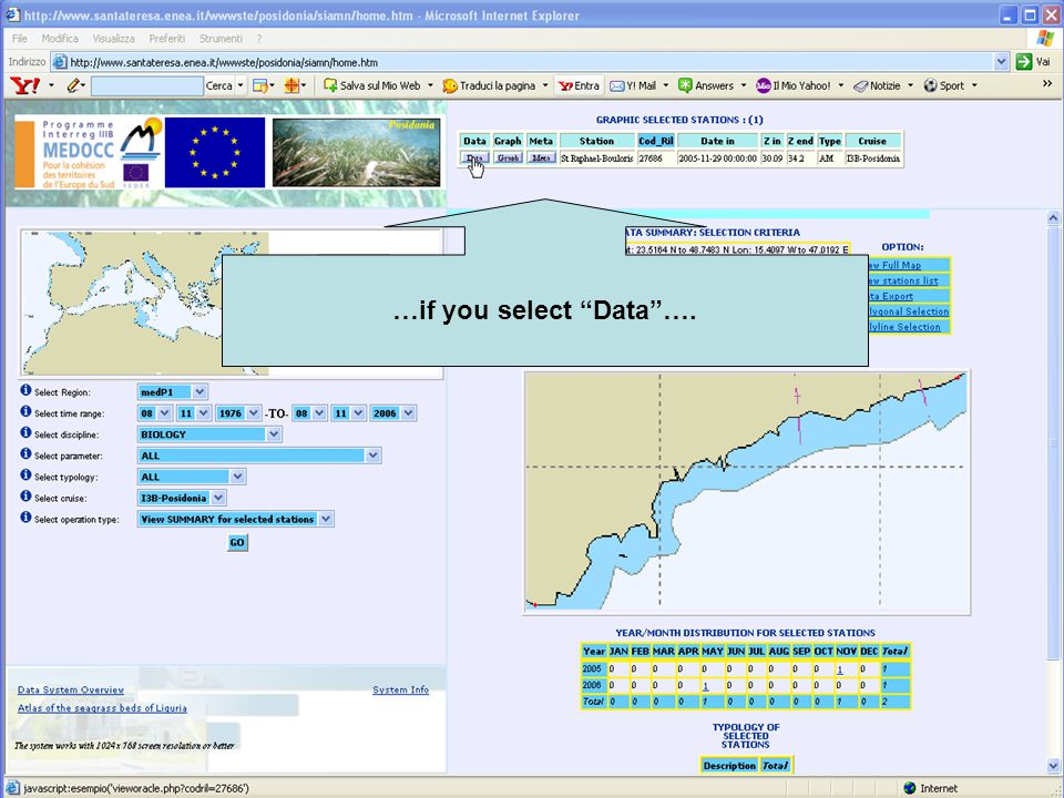 …and now… try by yourself the 'Vertical contour' option selecting the Hydrology data ctd H.
